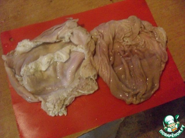 Приготовление желудка в домашних условиях