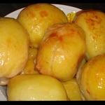 Фаршированный картофель в куриной коже
