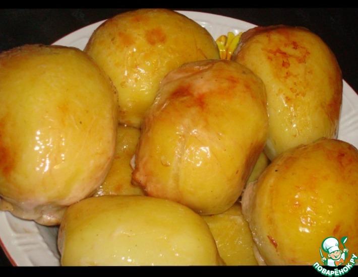 Рецепт: Фаршированный картофель в куриной коже