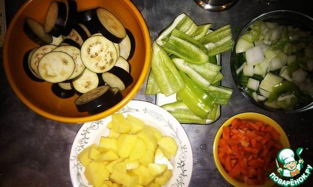бараньи ребрышки с овощами в духовке