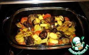 Рецепт Бараньи рёбрышки с овощами