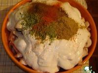 Картошка запеченая с мясом и грибами в сметане ингредиенты