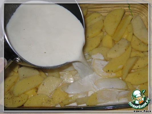 Картофель в сливках с сыром с фото