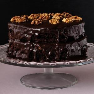 Шоколадный торт с карамельной прослойкой