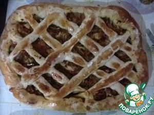 Рецепт Пирог с квашеной капустой и ветчиной