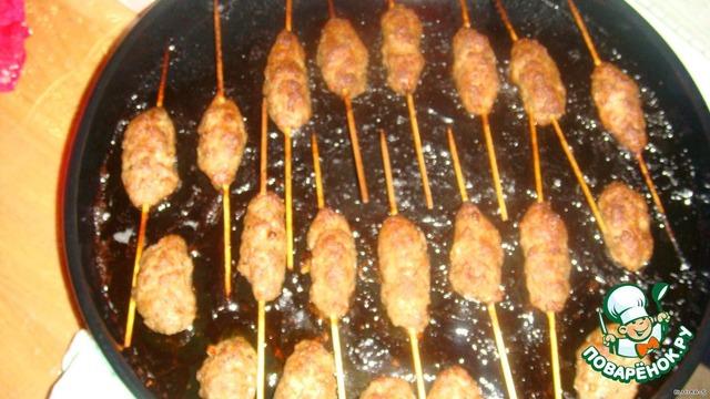 Люля-кебаб на шпажках рецепт