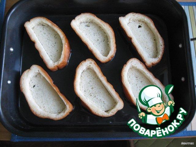 Поэтапное приготовление закусок на хлебе