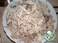 Салат куриный с шампиньонами и грецкими орешками ингредиенты