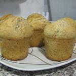 Кексы с грецкими орехами на жирных сливках