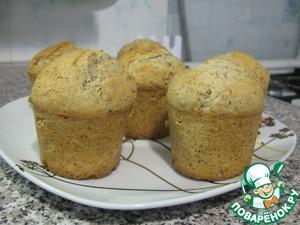 Рецепт Кексы с грецкими орехами на жирных сливках