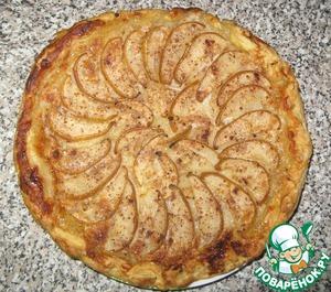 Рецепт Слоеный пирог с грушами