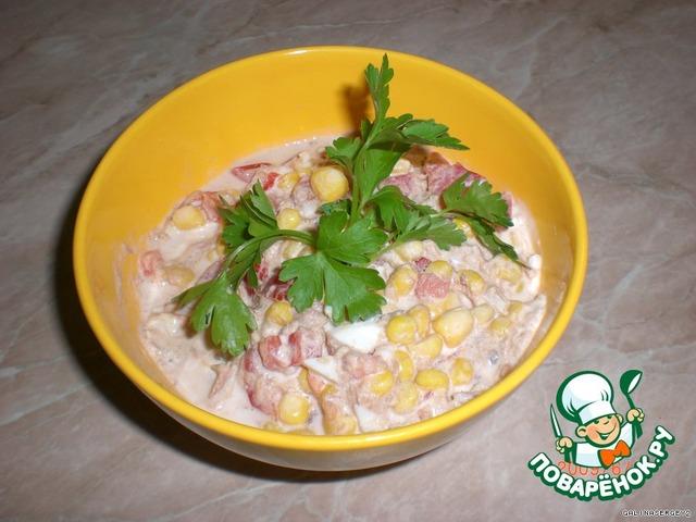 приготовить салат из консервов тунца рецепт