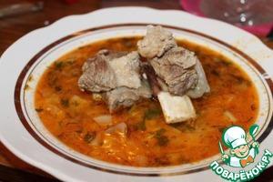 Рецепт Суп на говяжьих ребрышках