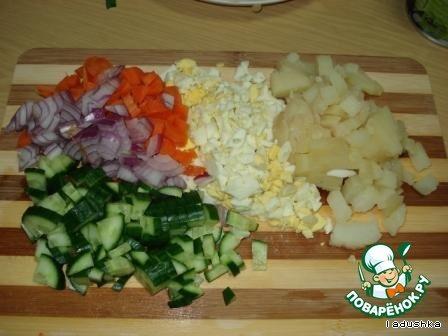 Салат сборный «Веселый» домашний рецепт приготовления с фотографиями пошагово как приготовить #2