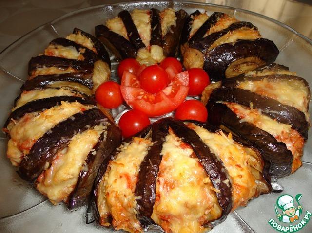 Баклажаны запеченные в духовке с фаршем рецепт пошагово