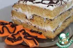 """Рецепт Майонезно-морковно-творожный торт """" Искушение """""""