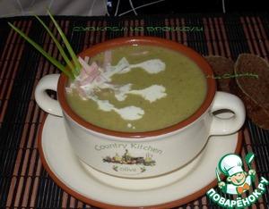 Как приготовить Суп-пюре из брокколи с ветчиной простой пошаговый рецепт с фото