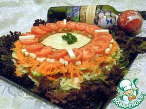 """Рецепт Многослойный витаминный салат """"Зимний цветок"""""""
