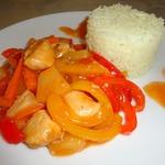 Курица по-китайски с рисом басмати