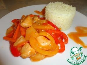 Рецепт Курица по-китайски с рисом басмати