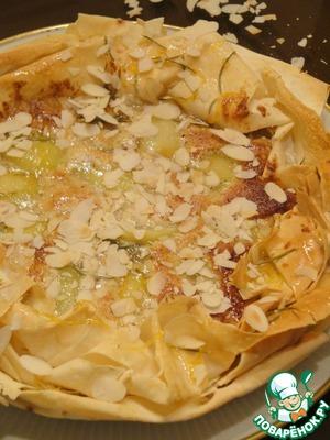 Рецепт Миндальный пирог с розмариновыми грушами