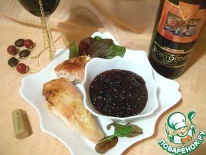 Рецепт Клюквенный соус к запеченной курице, маринованной с имбирем и тростниковым сахаром