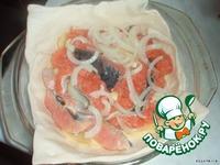 Пирог из слоеного теста с красной рыбой и картошкой ингредиенты