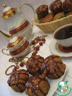 Рецепт Сметанные кексы с орехами