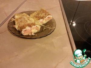"""Рецепт Сытный завтрак """"Омлет с семгой"""""""