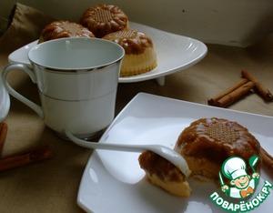 Рецепт Яблочные пирожные с карамельным муссом