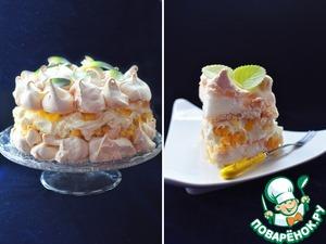 Рецепт Невесомый торт-безе «Пина Колада»