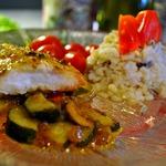 Рыба жареная в измельчённых картофельных или рисовых чипсах