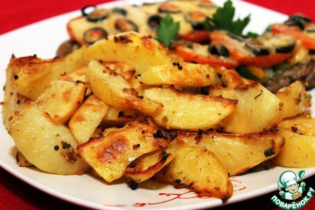 Рецепт картошка по по-французски с курицей с фото