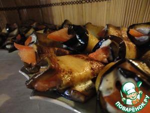 Рецепт Рулетики из баклажанов с плавленым сыром
