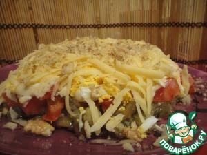 Рецепт Слоеный салат из баклажанов