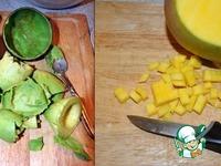 Салат с креветками, авокадо, манго и помидорами ингредиенты