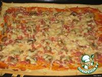 Тесто для пиццы и сама пицца ингредиенты