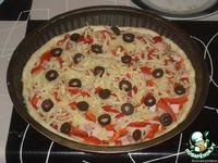 """Пицца с ветчиной и шампиньонами """"В день рождения сына"""" ингредиенты"""