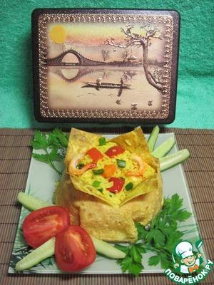 Рецепт Рис с овощами и креветками