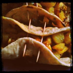 Рецепт Сабджи из картофеля в лепёшках Чапати