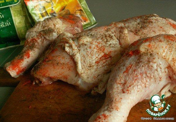 Запекать курицу в духовке с гречкой рецепт с фото