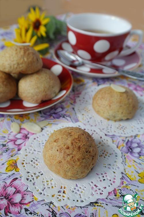 Овсяное печенье с творожной начинкой