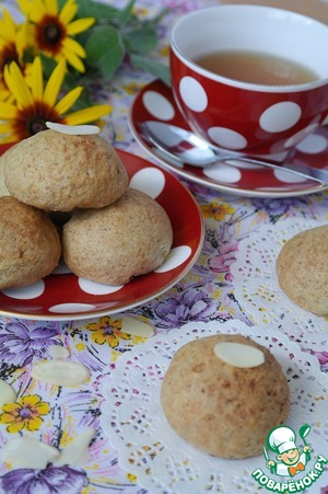 Рецепт Овсяное печенье с творожной начинкой