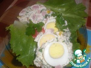 Рецепт Яйца в сырном желе