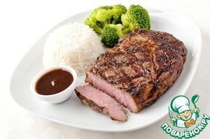 Рецепт Отбивная с рисом и овощами