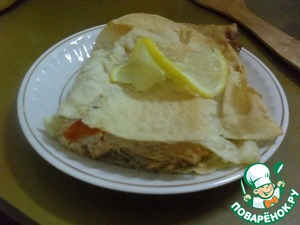 Рецепт Рыба в лаваше
