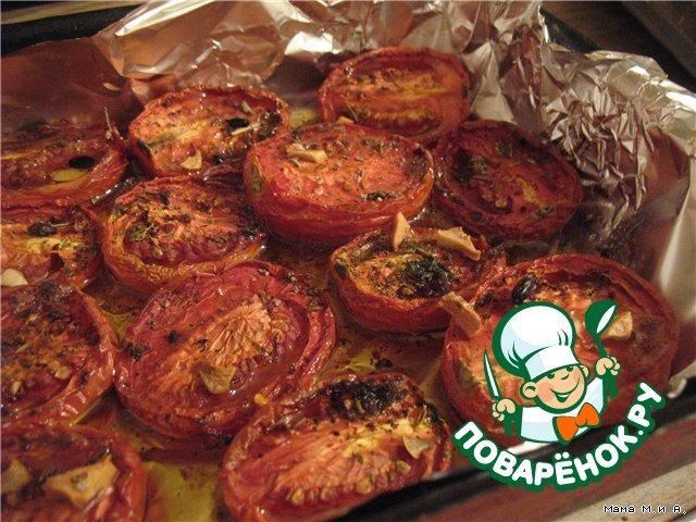 Помидоры, томленные в духовке в оливковом масле простой рецепт с фотографиями пошагово #1
