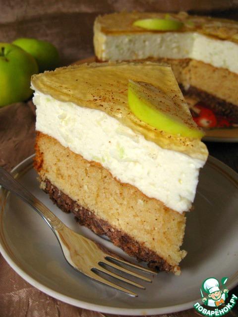 Яблочно-коричный торт