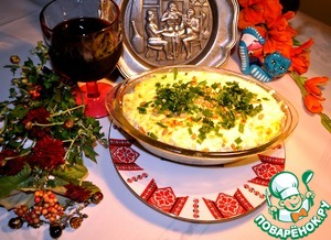 Рецепт Болгарская запеканка с рисом , индейкой, брынзой и кефиром.