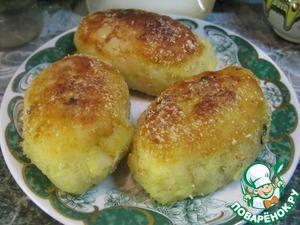 Рецепт Картофельные пирожки с мясом и орешками